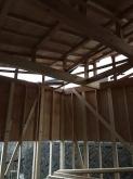 上棟です。 天井高もしっかり取りました。