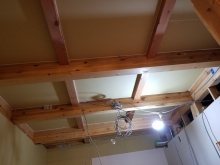 天井の遮音補強です。