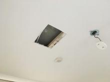 現地調査に伺い、天井裏の確認をさせて頂きました。