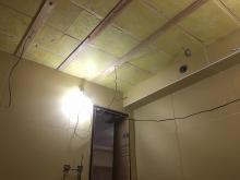 遮音補強が終わり、音響工事をしていきます。
