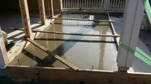増築部分の基礎コンクリート打ちを行いました 。