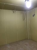 躯体壁と天井の遮音補強が完了しました。