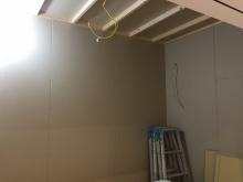 防音室側のお部屋ができあがってきました。