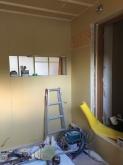 防音室の壁と天井ができあがってきました。