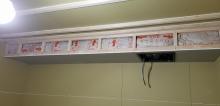 吸排気ダクトボックスを天井に梁型でつくっています。