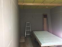 遮音補強後に天井を吸音天井に仕上げます。