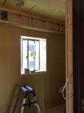 防音室側の下地を組み内側にもう一つお部屋をつくりました。