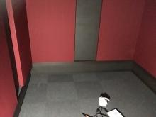 クロス施工完了です。 バンド室の場合、床はタイルカーペットをお勧めしています。