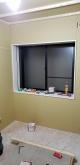 第2遮音壁、天井ができあがりました。 既設の腰窓の内側に樹脂サッシを2重で設置します。