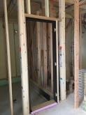 上棟後です。 打合せとドア枠設置しました。