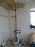 防音室工事が始まりました。 解体作業です。