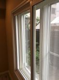 木工事が完了しました。 既設窓の内側に2重で樹脂サッシを入れています。仕上がりは3重の窓になります。