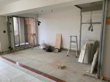 解体作業完了です。リビングからサッシで計画し、明るいお部屋へ仕上げます。