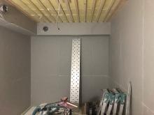 第2遮音壁ができあがりました。 天井を吸音天井に仕上げていきます。