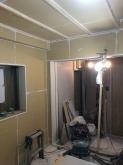 遮音壁と天井が出来上がりました。