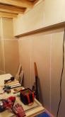 防音室側の壁ができあがりました。