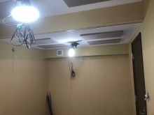 第2遮音壁と天井が出来上がりました。