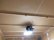 遮音壁と天井ができあがりました。 天井は吸音天井に仕上げます。