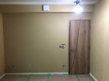 木工事が終わりました。 天井に梁型で夕排気ボックスを設けています。