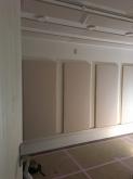 完成です!楽器が入るのが楽しみです。 壁と天井の吸音パネルで音の響きを調整しています。
