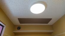 吸音天井の完成です。