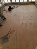 コンクリートが乾いて、弊社の木工事が始まりました。