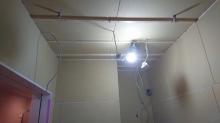 防音室側の遮音壁と天井が出来上がりました。