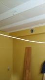 吸音天井が出来上がりました。 音の響きを調節して長時間の練習にも疲れにくい音響空間に仕上げています。