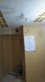 防音処理後に天井を吸音天井に仕上げています。