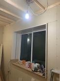 壁と天井の遮音補強が完了しました。
