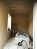 壁と天井ができあがってきました。