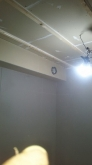 第2遮音壁ができあがりました。 天井に梁型で給排気ダクトボックスをつくりました。