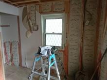 解体作業を行いました。出来る限り、天井高を確保します。