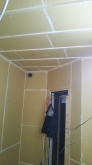 防音室側の壁と天井が出来上がりました。