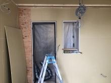防音室の壁と天井が出来上がってきました。