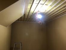 遮音補強後に音響工事をしていきます。