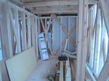 床もバリアフリー仕様にしてあります。新築工事なのでこの当たりも簡単に工事できます。