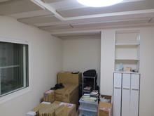 今回の工事は少しでも天井高をつくるというのが一番の難点でした。