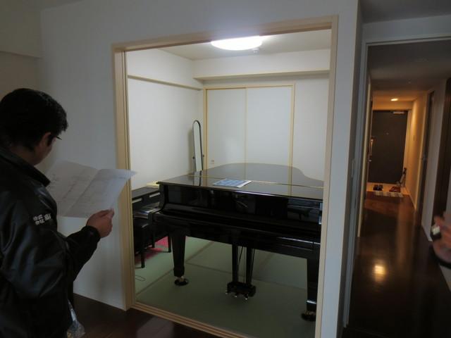 神奈川県横浜市 ピアノ教室 防音工事完成しました。。