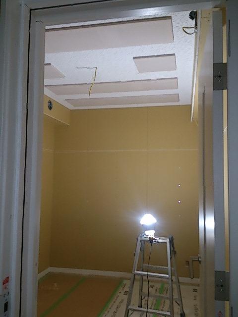 新潟県新潟市 ピアノ室 防音工事完了しました。